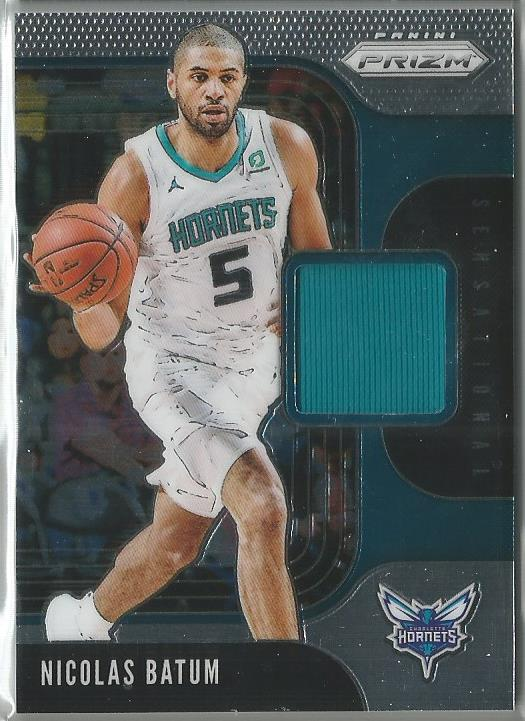 Nicolas Batum 2019-20 Prizm Sensational Swatches Game-Worn Material Relic