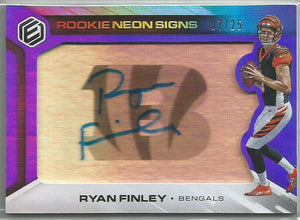 Ryan Finley 2019 Elements Rookie Neon Signs Autograph 07/25 SP!