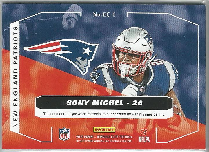 Sony Michel 2019 Elite Coverage Dual Relic #EC-1 - jjb-hobby-crafts