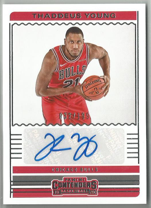 Thaddeus Young 2019-20 Contenders Autograph 032/199