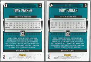 Tony Parker 2018-19 Donruss Optic #48 Lot Red 17/99 and Silver Prizm - jjb-hobby-crafts