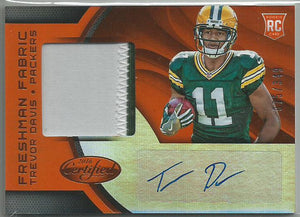 Trevor Davis 2016 Certified Freshman Fabric RPA Orange Autograph Rookie 075/349 - jjb-hobby-crafts