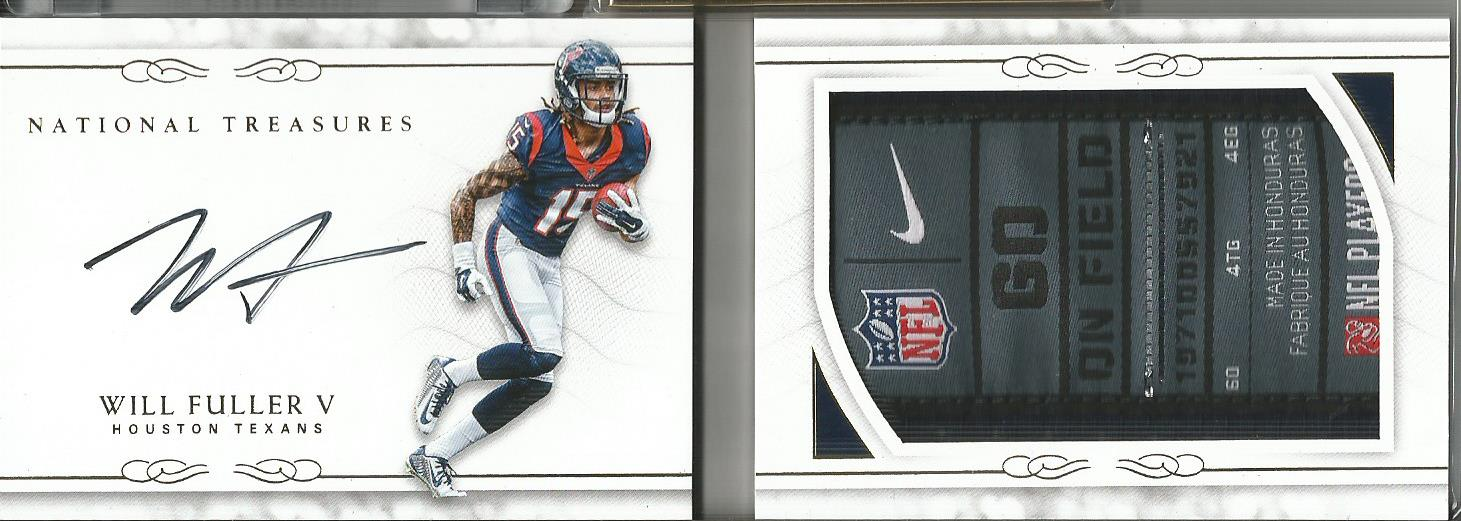 Will Fuller V 2016 National Treasures Rookie Autograph Laundry Tag Book 2/5 SSP! - jjb-hobby-crafts