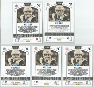 Will Grier 2019 Legacy #198 Rookie 5 Card Lot - jjb-hobby-crafts