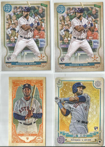 Yordan Alvarez 2020 Topps Gypsy Queen Rookie Lot The World, Fortune Teller, Base