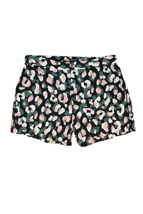 "Newport Button Zip-Fly 5"" Santorini Tile Swim Short"