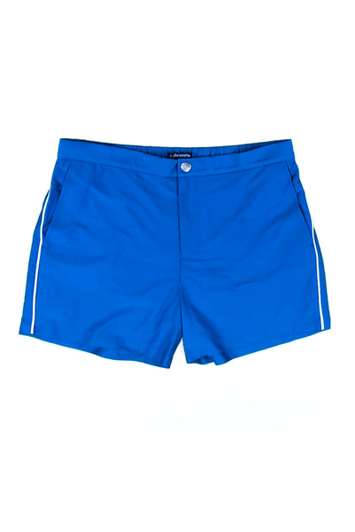 "Newport Button Zip-Fly Solid 5"" Zig Zag Swim Short"