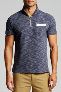 Capri Polo - Textured Navy