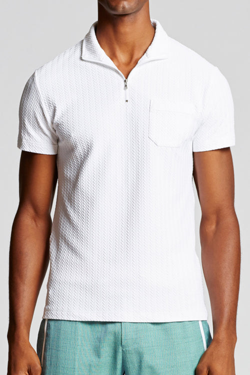 Capri Polo - Textured White
