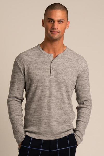 Waffle Knit Henley
