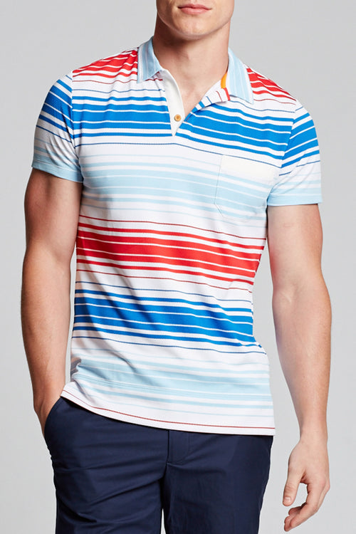 Hyannis Polo - Textured Stripe