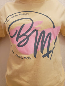 A cotton T-shirt in yellow color