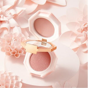 Pale pink and rosy pink blush and eye shadow dual