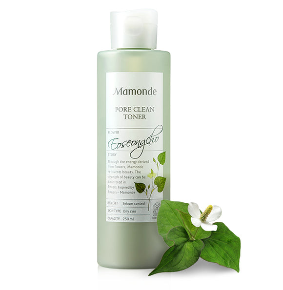 Green Bottle of Mamonde Pore Clean Toner