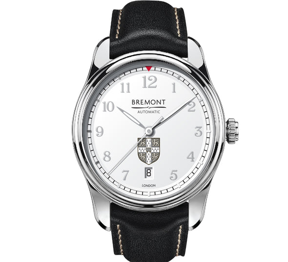 University of Cambridge: Bremont Airco Mach 2 (white/leather/greyscale)
