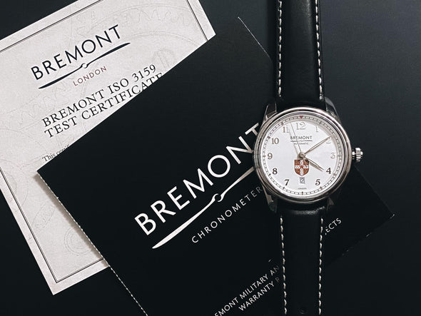 University of Cambridge: Bremont Airco Mach 2 (white/leather/colour)