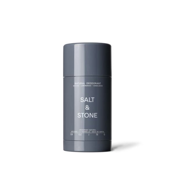 Salt & Stone Natural Deodorant Stick - Vetiver + Lemongrass + Sandalwood