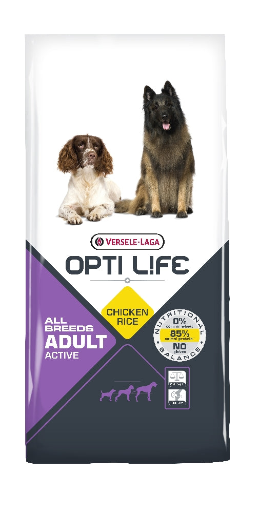 Opti Life Adult Active All Breeds, 12,5kg