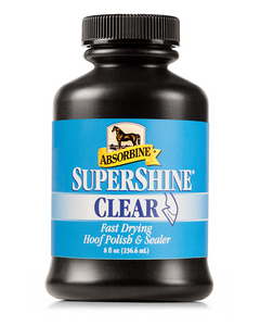 Absorbine Supershine Hoof Polish - Clear & Black - (8 oz) - Animal Health Express