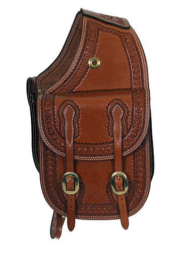 Russet Saddle Bag Tooled Border