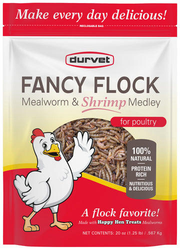 Durvet Fancy Flock Meal Worm Medley for Poultry