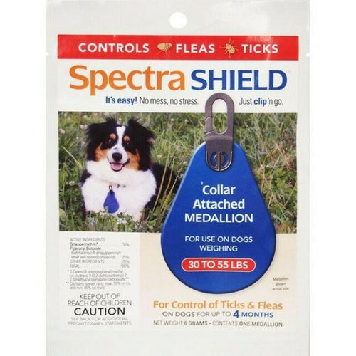 Spectra SHIELD Collar Attached Medallions - Animal Health Express
