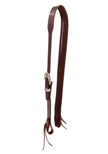 Berlin Custom Leather's Split Ear Headstall with Floral Buckle - Animal Health Express