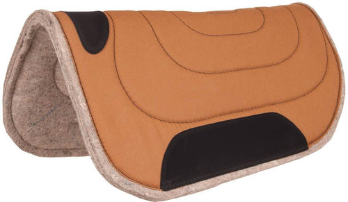 Mustang 30 x 30 Round Canvas Top Felt Pad - Animal Health Express