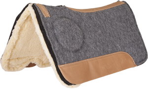 Mustang Correct-Fit with Fleece Bottom Saddle Pad - Animal Health Express