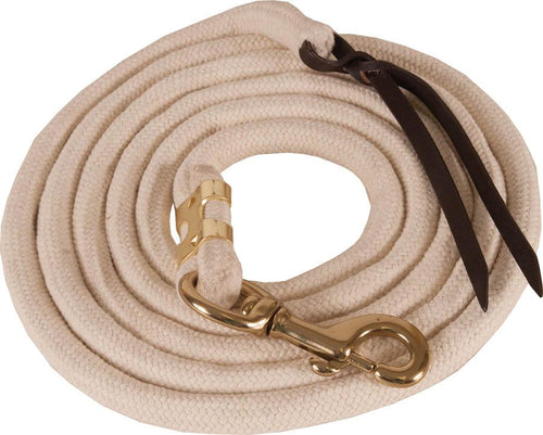 Mustang 10' White Cotton Lead - Animal Health Express
