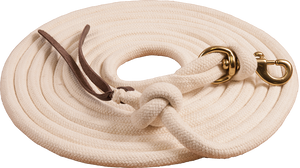 Mustang 25' White Pima Cotton Lunge Line - Animal Health Express