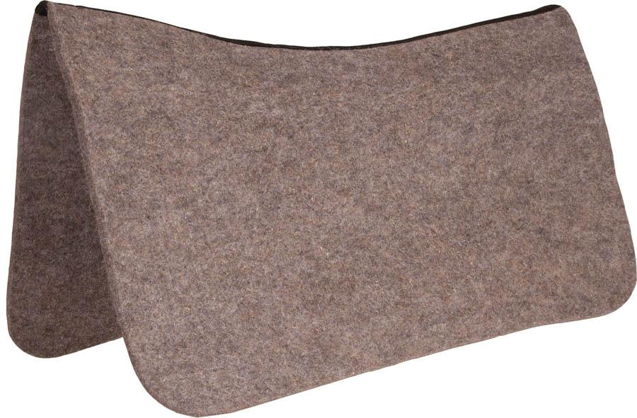 Load image into Gallery viewer, Mustang Tan Wool Contoured Protector Pad - Animal Health Express