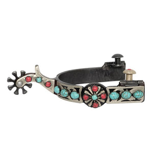 Partrade Ladies Southwest Collection Spur with Starburtst Turquoise Trim