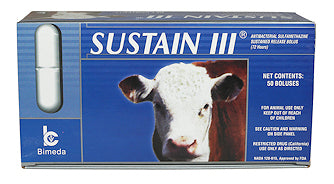 Sustain III Cattle Bolus - Animal Health Express