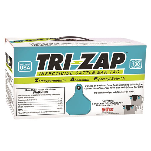 Y Tex TRIZAP Insecticide Cattle Ear Tags - Animal Health Express