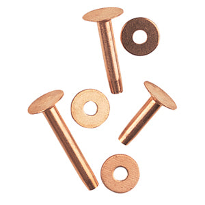 Assorted Copper Rivets and Burrs (#9) - Animal Health Express