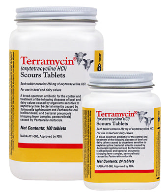 Terramycin Scours Tabs - Animal Health Express