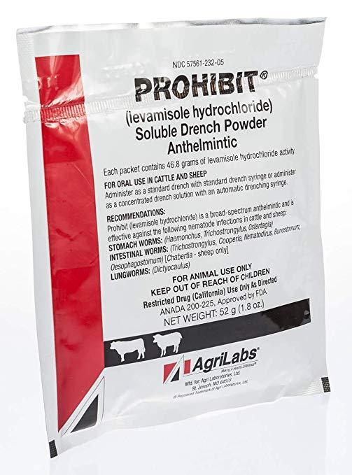 Prohibit Soultion Drench Powder - Animal Health Express
