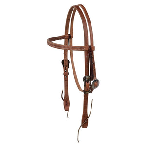 Browband Headstall with Floral Hardware - Animal Health Express