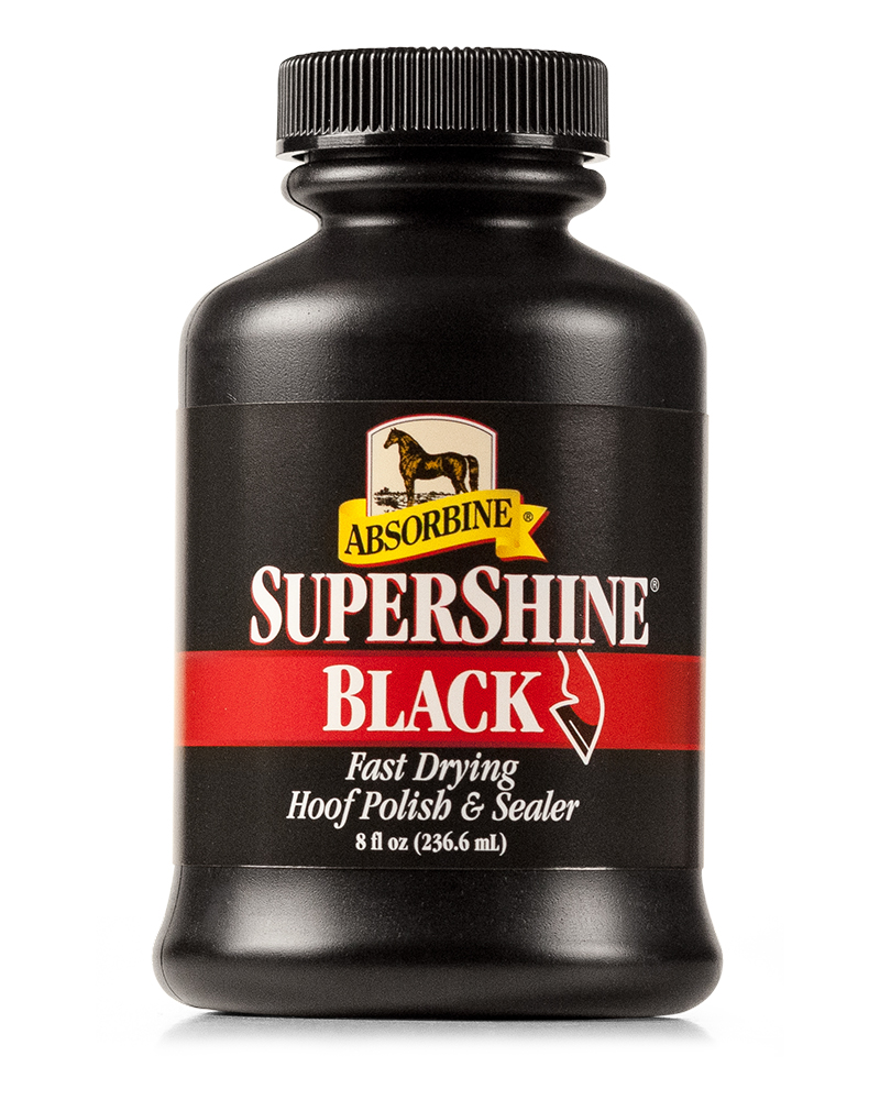 Load image into Gallery viewer, Absorbine Supershine Hoof Polish - Clear & Black - (8 oz) - Animal Health Express
