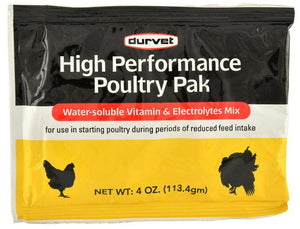 Durvet's high performance Poultry Pak - Animal Health Express