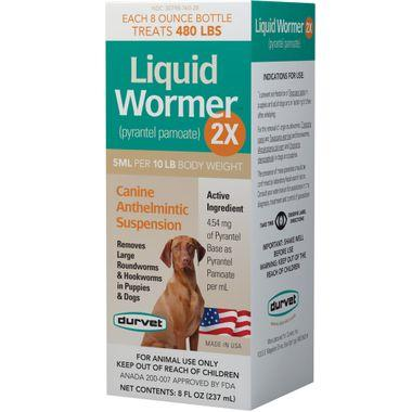 Durvet Liquid Wormer 2X for Puppies and Dogs