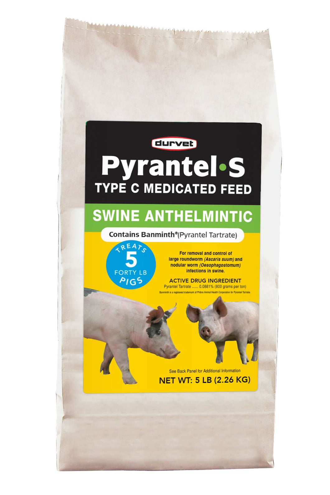 Durvet Pyrantel-S Type C Medicated Feed for Swine