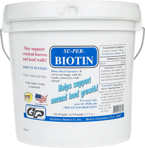 SU-PER - Biotin Supplements For Horse Hooves - (2.5 / 12.5 lbs)
