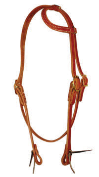 Sliding Ear Headstall with Throat Latch - Animal Health Express
