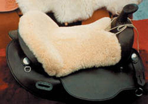 Sheepskin Western Seat Cushion - Animal Health Express