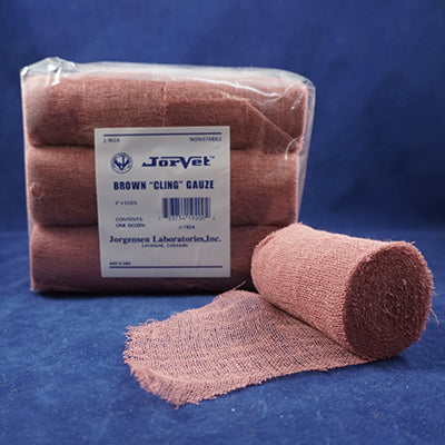 Brown Cling Gauze - Animal Health Express