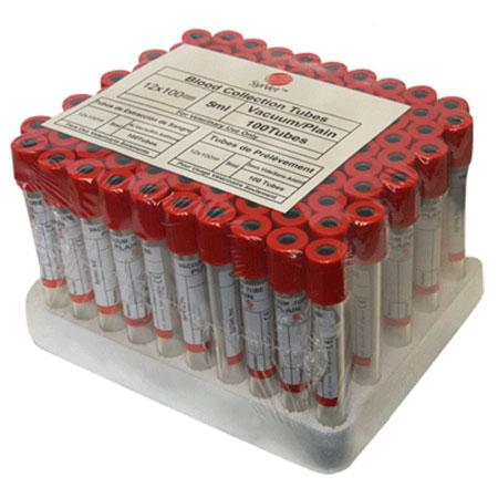 Neogen Disposable Blood Collection Tube Red Stopper