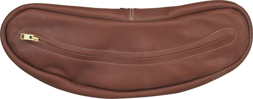 Brown Chap Leather Cantle Bag - Animal Health Express