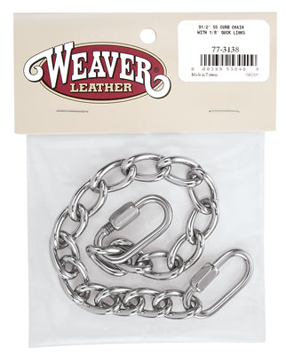 Stainless Steel Curb Chain with Quick Links - Animal Health Express
